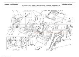Ferrari 612 Scaglietti REAR SEAT - SAFETY BELTS