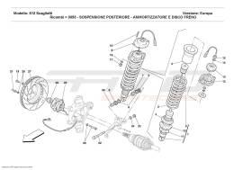 Ferrari 612 Scaglietti REAR SUSPENSION - SHOCK ABSORBER AND BRAKE DISC