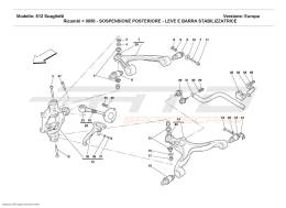 Ferrari 612 Scaglietti REAR SUSPENSION - WISHBONES AND STABILIZER BAR