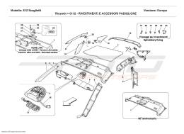 Ferrari 612 Scaglietti ROOF PANEL UPHOLSTERY AND ACCESSORIES