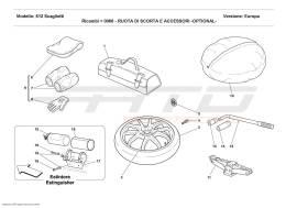 Ferrari 612 Scaglietti SPARE WHEEL AND ACCESSORIES