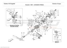 Ferrari 612 Scaglietti STEERING COLUMN