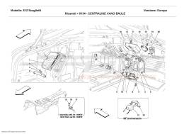 Ferrari 612 Scaglietti TRUNK BOTTOM CONTROL STATIONS
