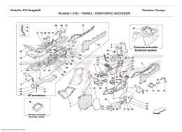 Ferrari 612 Scaglietti TUNNEL - FRAMEWORK AND ACCESSORIES