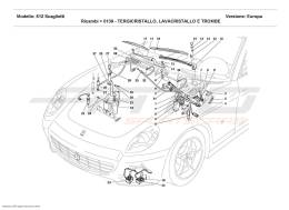 Ferrari 612 Scaglietti WINDSHIELD, GLASS WASHER AND HORNS