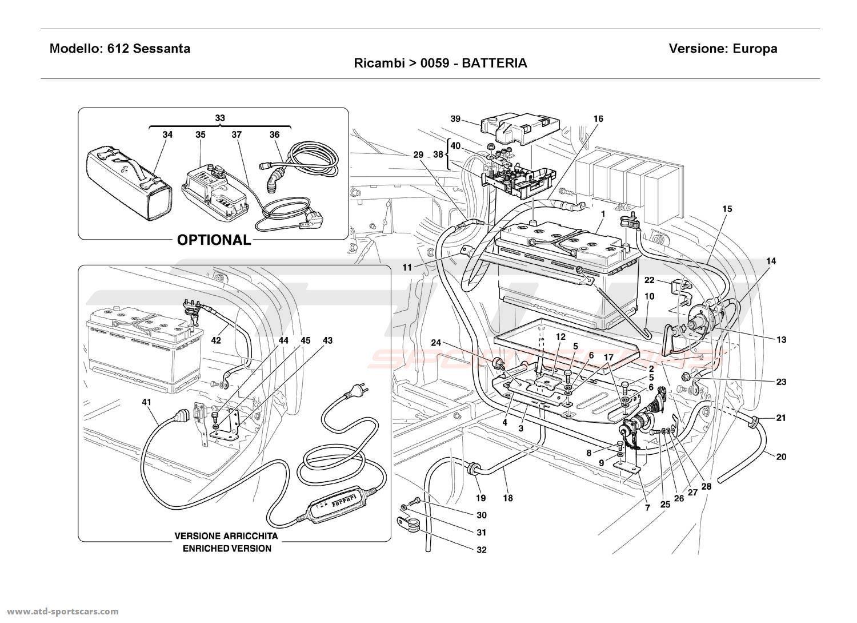 Ferrari 612 Sessanta BATTERY