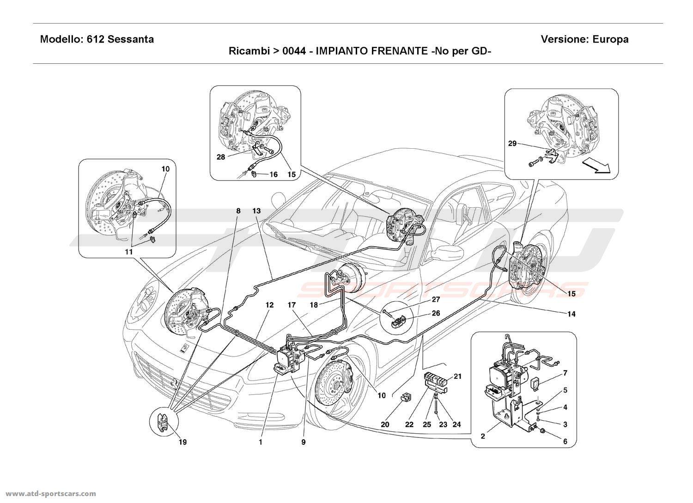 Ferrari 612 Sessanta BRAKE SYSTEM