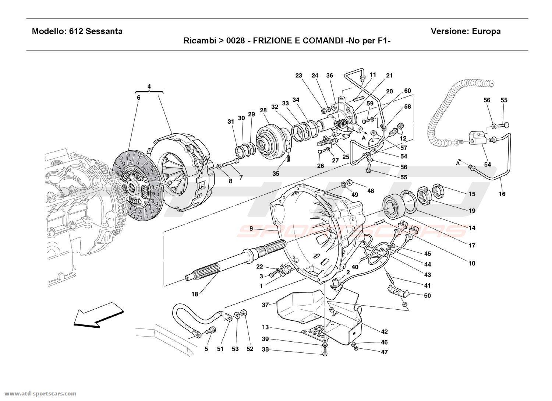 Ferrari 612 Sessanta CLUTCH AND CONTROLS - Not for F1 -