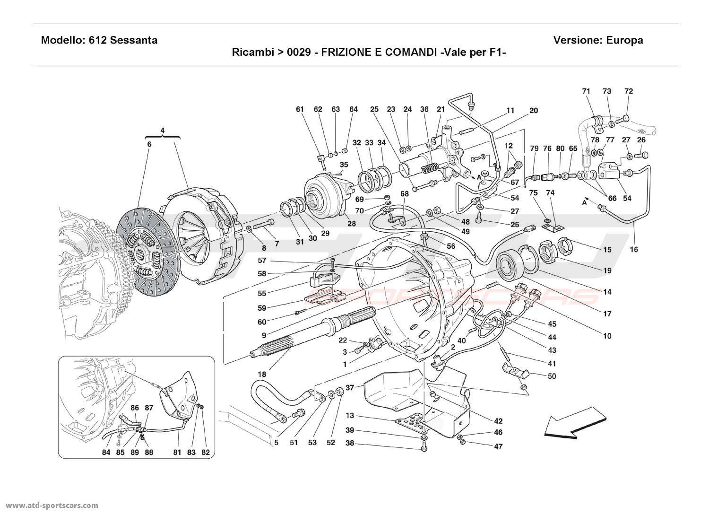 Ferrari 612 Sessanta CLUTCH AND CONTROLS - Valid for F1 -
