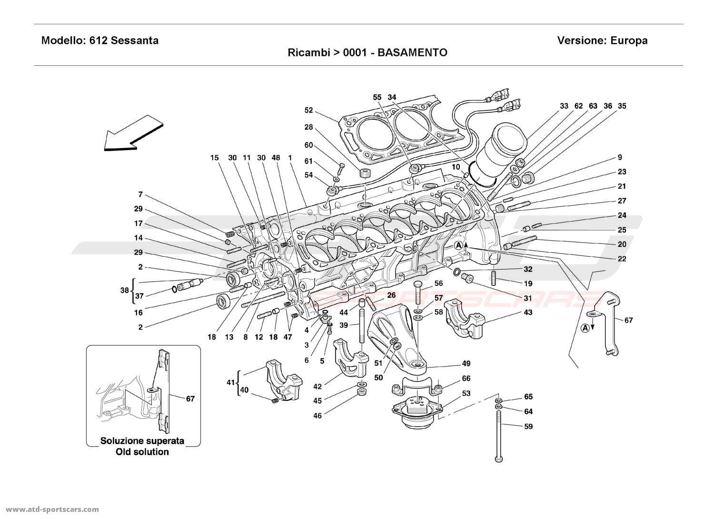 Ferrari 612 Sessanta CRANKCASE
