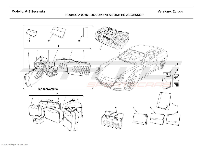 Ferrari 612 Sessanta DOCUMENTATION AND ACCESSORIES