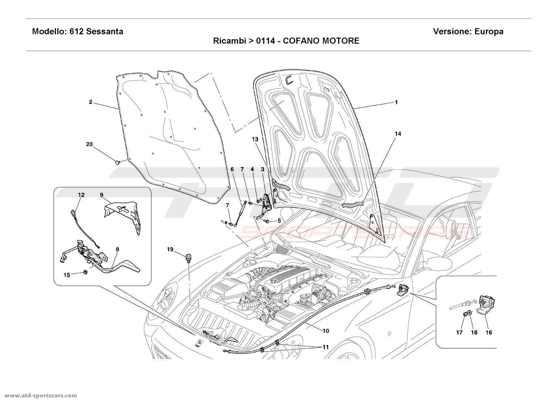 Ferrari 612 Sessanta ENGINE BONNET