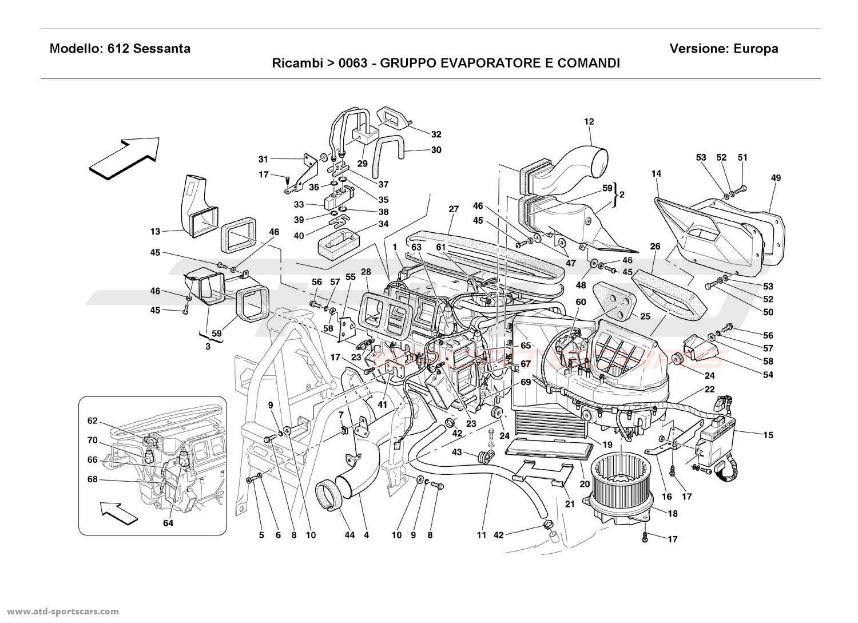 Ferrari 612 Sessanta EVEPORATOR UNIT AND CONTROLS