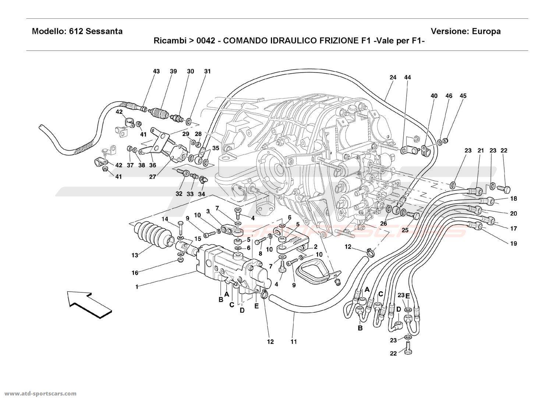 Ferrari 612 Sessanta F1 CLUTCH HYDRAULIC CONTROL