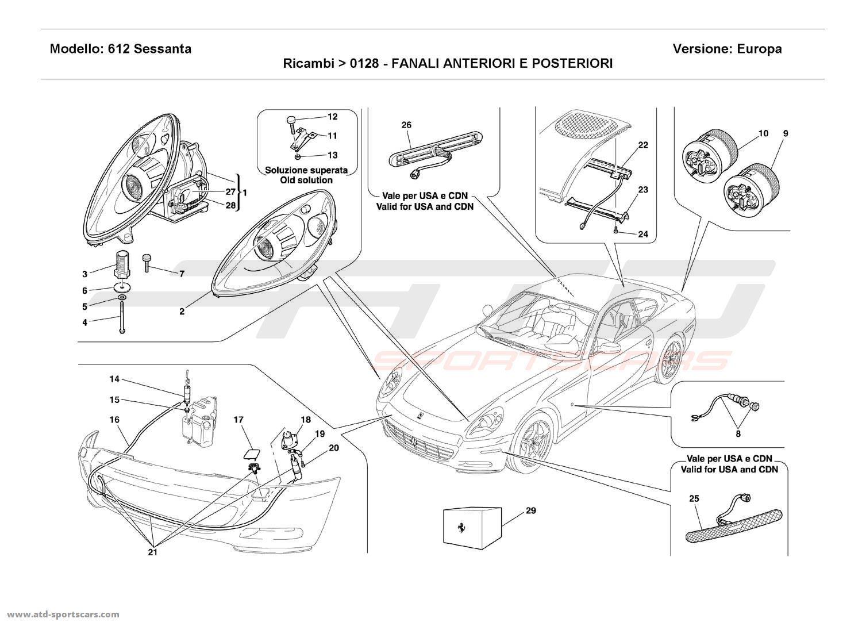 Ferrari 612 Sessanta FRONT AND REAR LIGHTS