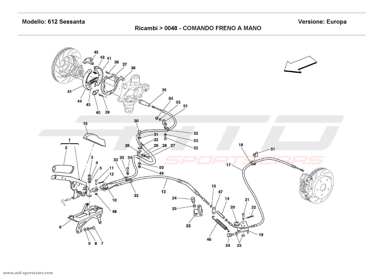 Ferrari 612 Sessanta HAND-BRAKE CONTROL