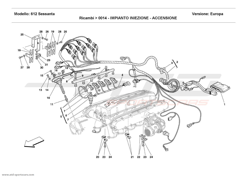 Ferrari 612 Sessanta INJECTION DEVICE - IGNITION