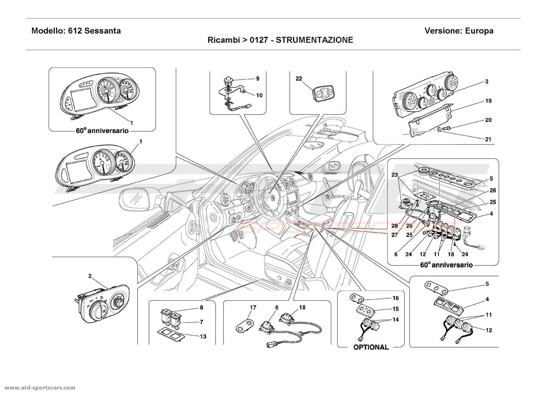 Ferrari 612 Sessanta INSTRUMENTS