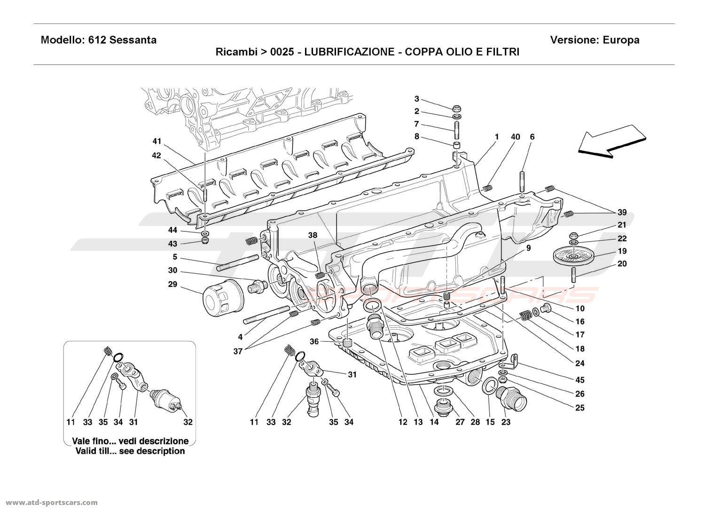Ferrari 612 Sessanta LUBRICATION - OIL SUMPS AND FILTERS
