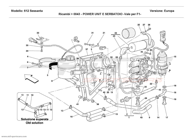 Ferrari 612 Sessanta POWER UNIT AND TANK