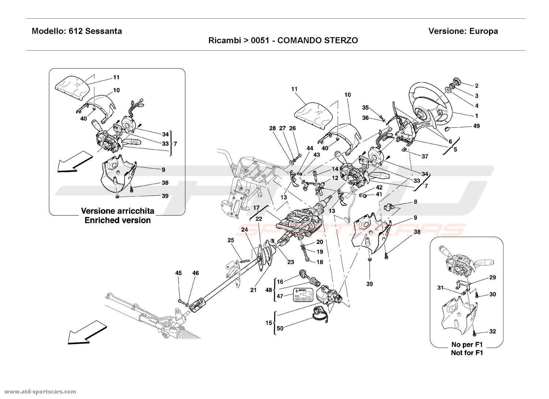 Ferrari 612 Sessanta STEERING COLUMN