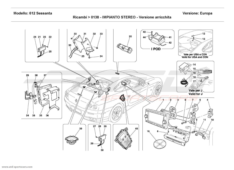 Ferrari 612 Sessanta STEREO EQUIPMENT - Enriched version