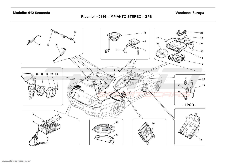 Ferrari 612 Sessanta STEREO EQUIPMENT - GPS