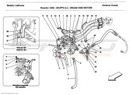 Ferrari California 2011 AC UNIT: COMPONENTS IN ENGINE COMPARTMENT
