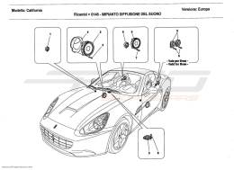 Ferrari California 2011 AUDIO SPEAKER SYSTEM