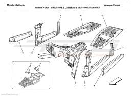 Ferrari California 2011 CENTRAL STRUCTURES AND CHASSIS BOX SECTIONS