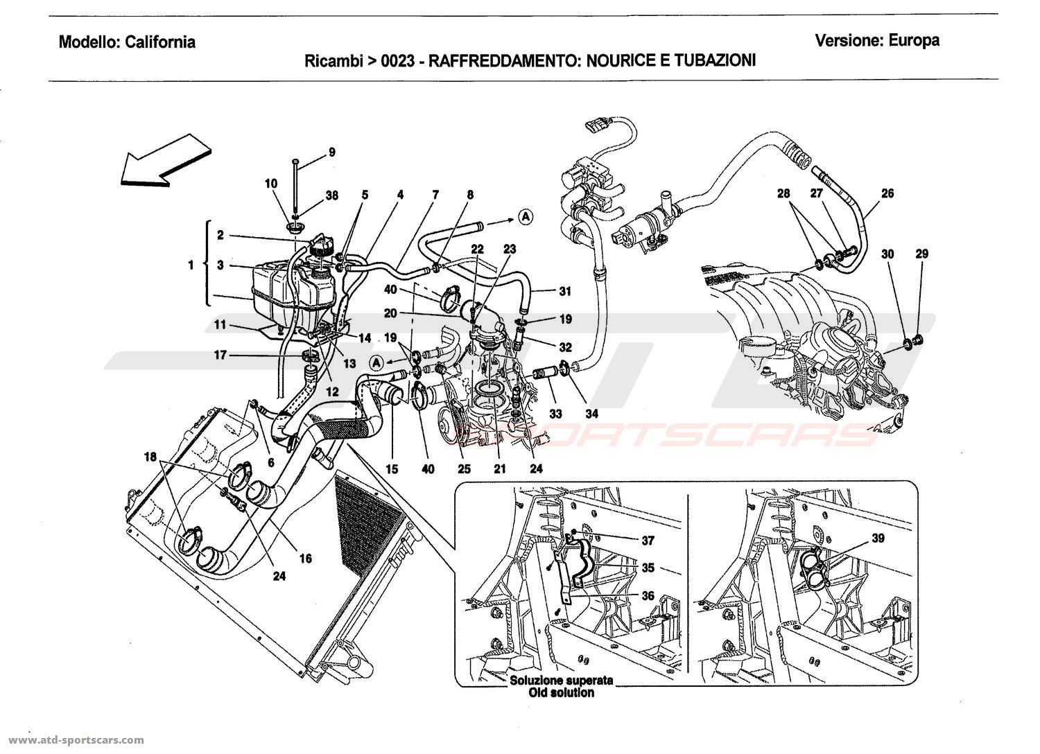 COOLING: HEADER TANK AND PIPES