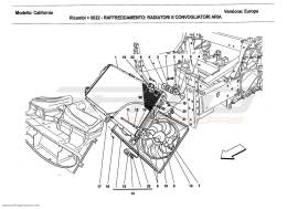 Ferrari California 2011 COOLING: RADIATORS AND AIR DUCTS
