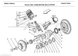 Ferrari California 2011 CRANKSHAFT, CONNECTING RODS AND PISTONS