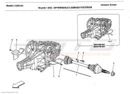 Ferrari California 2011 DIFFERENTIAL AND REAR AXLE SHAFTS