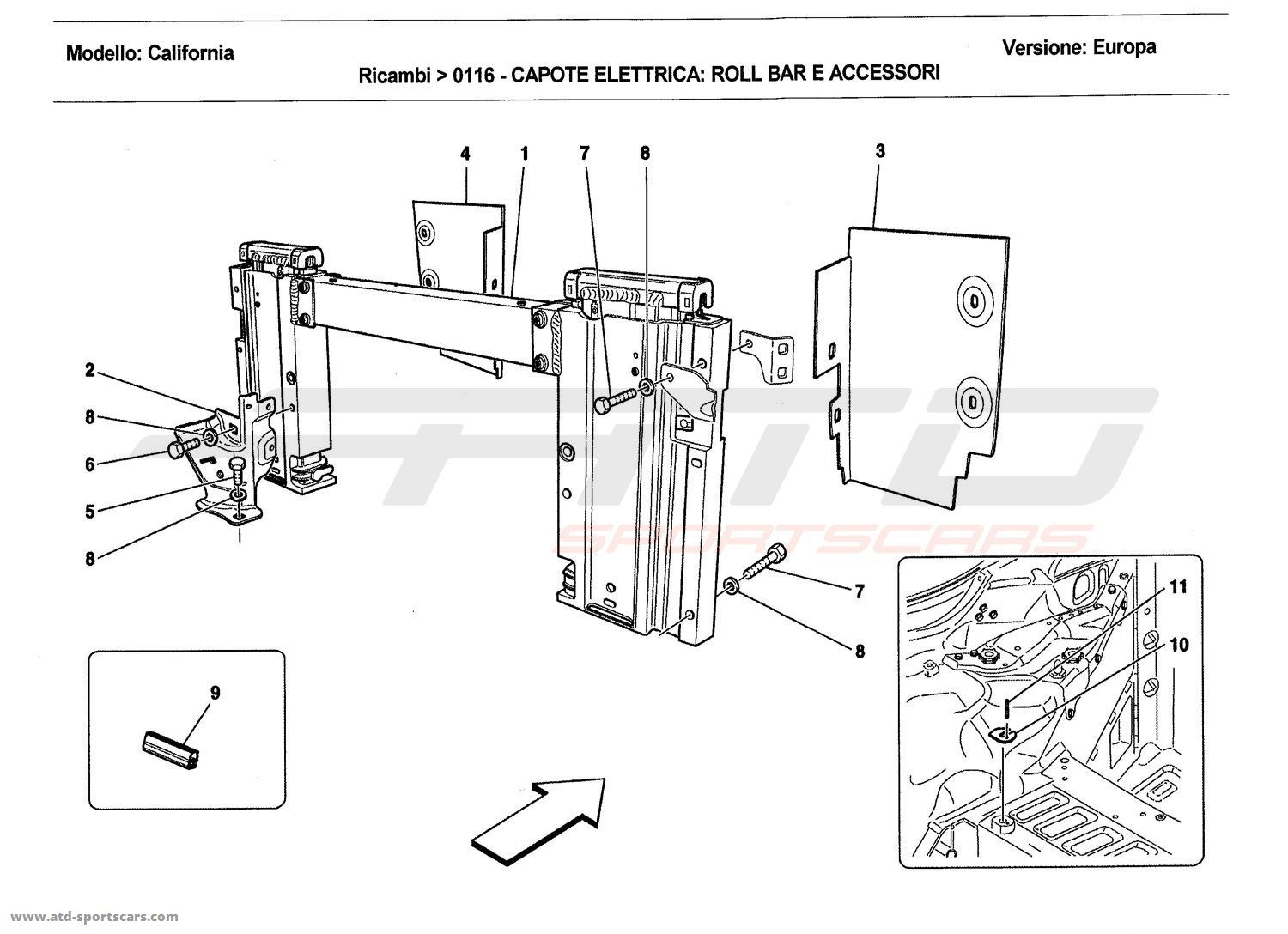 ELECTRIC ROOF: ROLL BAR AND ACCESSORIES