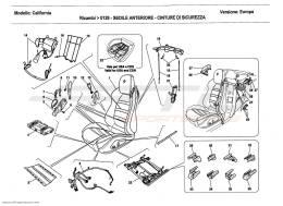 Ferrari California 2011 FRONT SEAT - SEAT BELTS