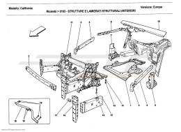 Ferrari California 2011 FRONT STRUCTURES AND CHASSIS BOX SECTIONS