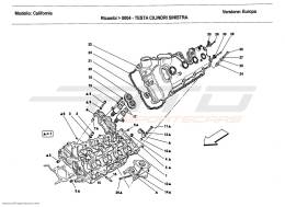 Ferrari California 2011 LEFT HAND CYLINDER HEAD