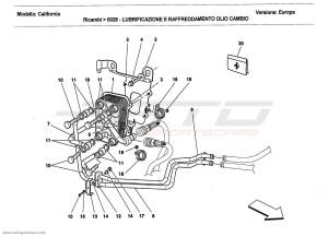 Ferrari California 2011 LUBRICATION AND GEARBOX OIL COOLING