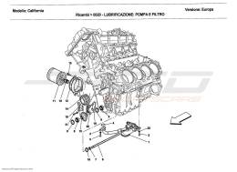 Ferrari California 2011 LUBRICATION: PUMP AND FILTER
