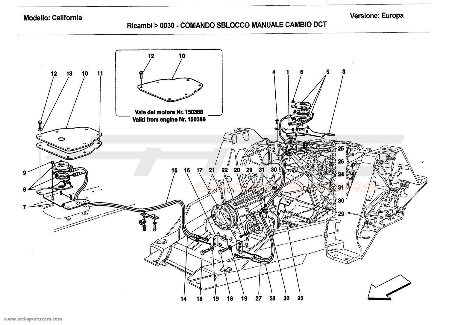 MANUAL DCT GEARBOX LOCK RELEASE CONTROL