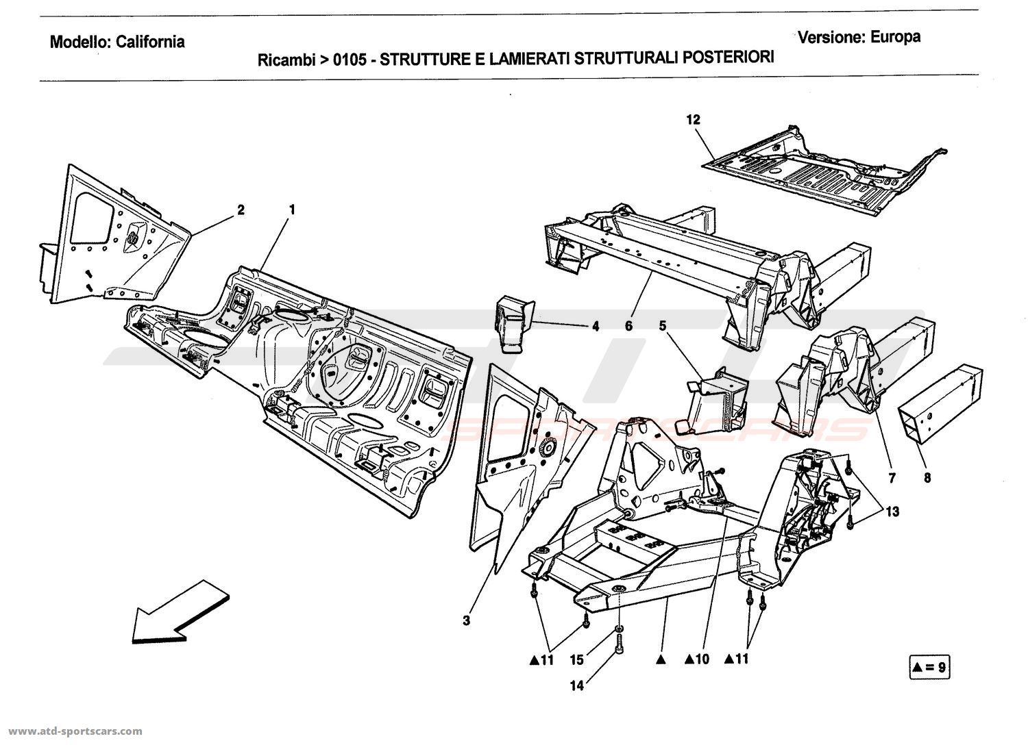 REAR STRUCTURES AND CHASSIS BOX SECTIONS