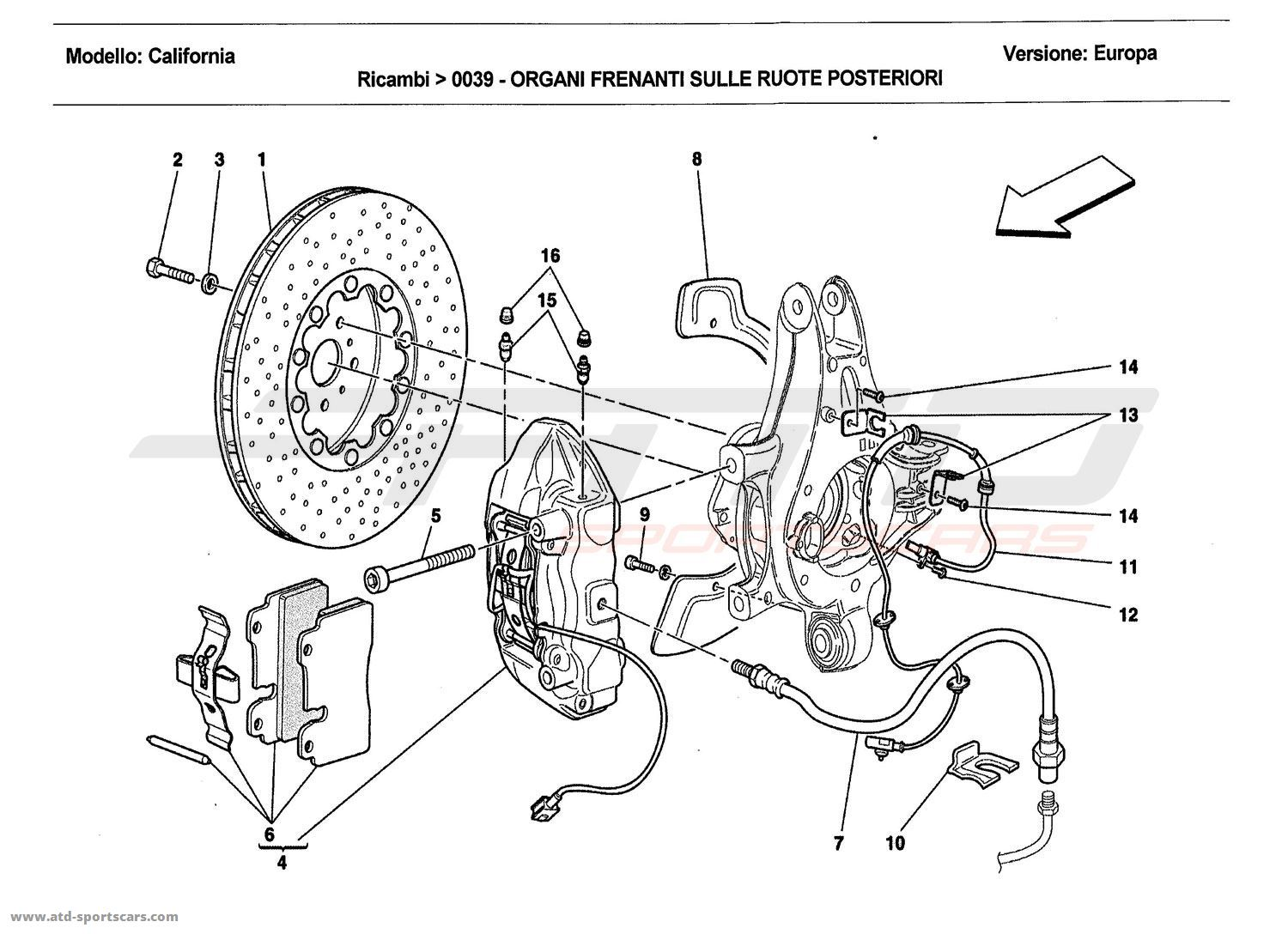 REAR WHEEL BRAKE SYSTEM COMPONENTS