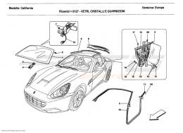 Ferrari California 2011 SCREENS, WINDOWS AND SEALS