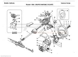 Ferrari California 2011 STEERING COLUMN ASSEMBLY AND STEERING WHEEL