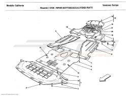 Ferrari California 2011 UNDERBODY SHIELDS AND FLAT UNDERTRAY SECTIONS