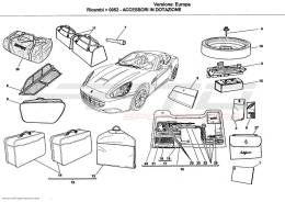Ferrari California ACCESSORIES PROVIDED