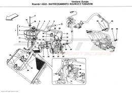 Ferrari California COOLING SYSTEM: NOURICE AND LINES