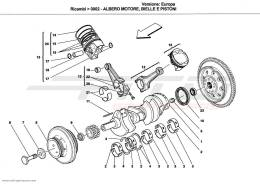 Ferrari California CRANKSHAFT, CONNECTING RODS AND PISTONS