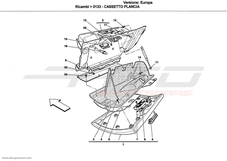 Ferrari California Dashboard Drawer Parts At Atd Sportscars Atd